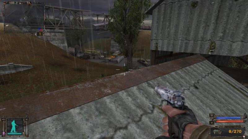 屋根が自然と遮蔽してくれる上に、上から敵を攻撃できるのでかなり有利